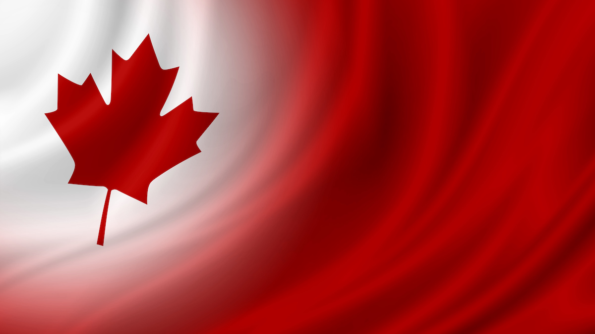 Canada day banner background design of flag with copy space