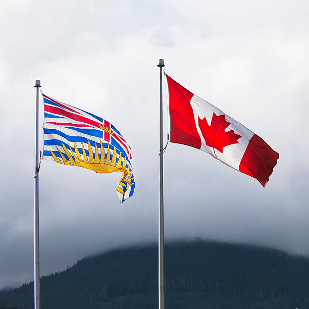 Flags of British Columbia and Canada